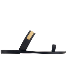 Ancient Greek Sandals with LALAoUNIS Kimolos - Black