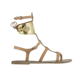 Ancient Greek Sandals with LALAoUNIS Rhodes - Natural
