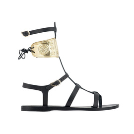 Ancient Greek Sandals with LALAoUNIS Rhodes - Black