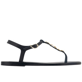 Ancient Greek Sandals with LALAoUNIS Santorini - Black