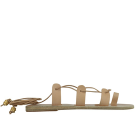Ancient Greek Sandals with LALAoUNIS Alcyone Snakes - Natural
