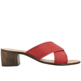 THAIS BLOCK - RED/CHESTNUT HEEL