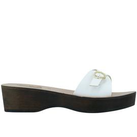 Filia Sabot - White/Chestnut Heel