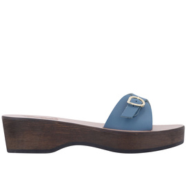 Denim / Chestnut Heel
