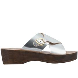 Marilisa Sabot - Silver/Chestnut Heel