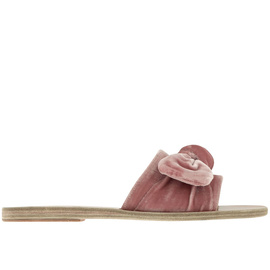 Taygete Bow - Velvet Dusty Pink