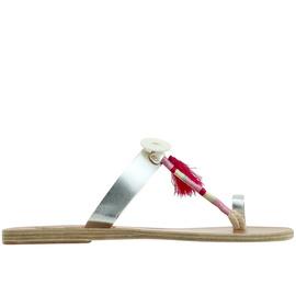 Ancient Greek Sandals with Lem Lem Iris Wrap - SLV/PINK WRAP