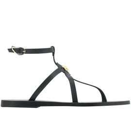 Ancient Greek Sandals with LALAoUNIS Alia - Black