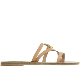 Ancient Greek Sandals with LALAoUNIS Thoi - Natural