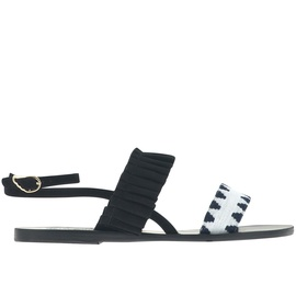 Ancient Greek Sandals with Lem Lem Kalithea Frills - SD BLACK/STRIPES FBR