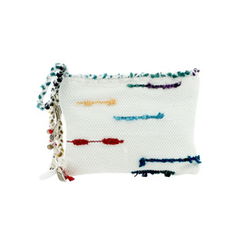 CLOTHO CLUTCH - WHITE/MULTI