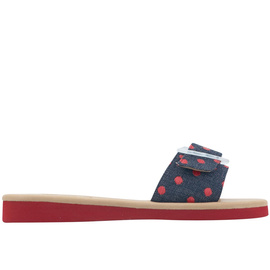 AGLAIA - DARK DENIM/RED RAFFIA