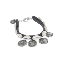 SHELLS & COINS - BLACK/OLD SILVER