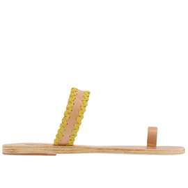 THALIA ZIG ZAG - NATURAL/YELLOW SUEDE