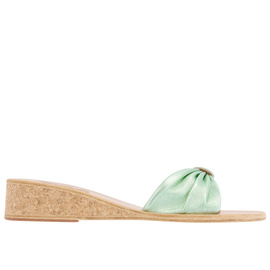 Mimi Wedge - Aqua Silk