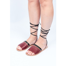 Zeus + Δione<br>TSAROUCHI LACE UP - NATURAL/BLACK/BORDEAUX